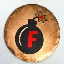 F BOMB Forged Copper Golf Ball Marker by Sunfish