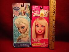 Set  of 2 Fun on the Go Activity Sets Games Stickers Markers Barbie and Frozen