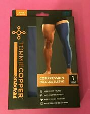 Tommie Copper Sport Compression Full leg Sleeve Blue Size Large/XL NEW IN BOX