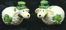 St. Patrick's Day Shamrock Leprechaun Hat Sheep Salt And Pepper Shakers