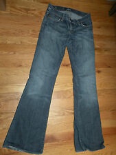 Rock & Republic blue stretch jeans size 26  ultra low rise  flare   34 inseam