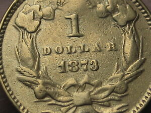 1873 $1 Gold Liberty Head One Dollar Coin- Open 3