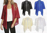 New Ladies Chiffon Kimono Waterfall Cardigan Shawl Shrug Top (8- 26)
