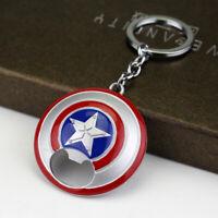 Captain America Shield Bottle Opener Beer Cap Wine Dining Bar Tool Keychain
