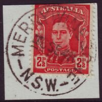 "NSW POSTMARK ""MERRYWINEBONE"" ON 2-1/2d KGVI DATED 1948 - PO CLOSED 1960 (A12873)"