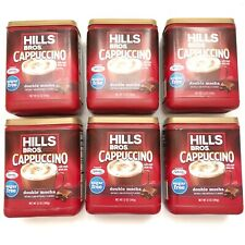 6 Pack Lot Hills Bros Sugar Free Double Mocha Cappuccino Beverage Coffee 12 oz