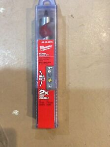 Set of 2 Milwaukee-48-13-0873 7/8 In. x 6 In. Ship Auger Bit