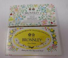 Bronnley Hand Soap Set x 2 Boxed White Iris 75g Soaps & Lemon Verbena Vintage D1