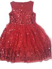 Speechless Toddler Girls 4T Red Sequin Part Dress EUC