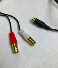 S-Video Y Splitter Cable 4 Pin S-VHS Male to Dual BNC Female Adapter Cable 6'
