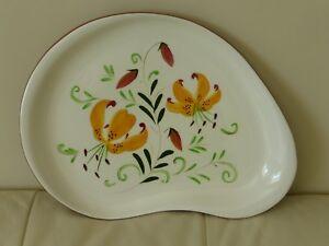 Vintage STANGL Tiger Lily Kidney Shape Platter or Tray
