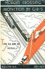 General Railway Signal Co Railroad Crossing Signal Referance Manual