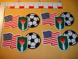 USA Flag with Soccer patch collection 8 total patches