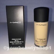 New Mac Foundation Studio Fix Fluid Foundation  SPF 15 NC15 100% Authentic