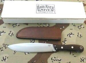 BARK RIVER USA 3325MBU CANADIAN CAMP II KNIFE WITH BURGUNDY MICARTA HANDLE;NR