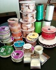 32 Lg Lot Of Craft Ribbon & Other Goodies