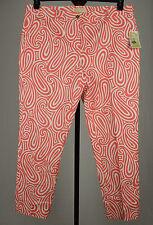 Michael Kors Womens Pink/White Skinny Pants 16