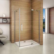 1200x800mm Frameless Pivot Shower Enclosure Door Screen Side Panel 8mm Glass