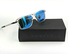 New in Box Authentic Oakley Wheel House Clear Frames w/Sapphire Lenses -BBL439G3