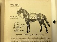 Reins, M1917 Halter Bridle W/ M1909 Bit w/ Snaps.Unit mrkd Cavalry Pack Saddle