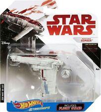 Disney Star Wars Starships Diecast Hot Wheels Resistance Bomber w/ Flight Stand