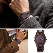 Wooden Watch Quartz, Bewell W086B Quartz Natural Wood Watch with Adjustable Watc