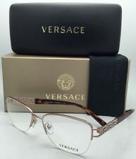 New VERSACE Eyeglasses 1220-B 1052 52-16 Copper & Tortoise Frames with Crystals