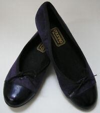 Munro American Shoes Flats Ballet Purple Black Womens Size 6 M