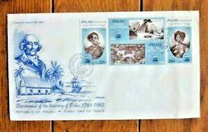 DISCOVERY OF PALAU  REPUBLIC OF PALAU   SET 1988 ARTMASTER CACHET FDC VF UNADDR