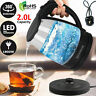 2.0L illuminated Glass Kettle Blue LED 360 Cordless Electric Jug Portable Design