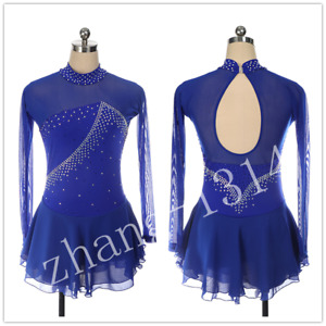 New Blue Figure Skating Dress for competition 510