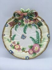 Fitz and Floyd Woodland Spring Canapé Plate Floral With Bow Pre Owned