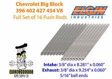 Elgin Set of 16 Chevrolet Big Block 396 402 427 454 Engine Push Rods 8.281 9.254