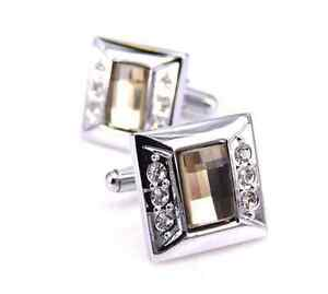 Fashion crystal shape design Cufflink