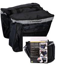 Neu Dunlop Fahrrad Gepäckträgertasche Fahrradtasche Doppel Satteltasche schwarz