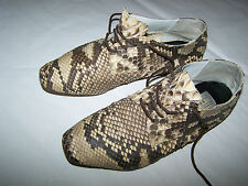 "SCARPE PITONE ""DEAUVILLE"" PYTHON SKIN WOMAN SHOES  n°37"