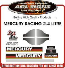 MERCURY 2.4 LITRE BRIDGEPORT EFI RACING OUTBOARD DECALS, graphics