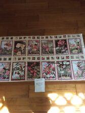"Keepsake Quilting Fabric ~Apple Blossom Flower Fairies - 23"" x 44"" Panel"