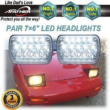 "7""x6"" CREE LED Headlights Sealed Beam Headlamps Fit Pickup 240SX 200SX"