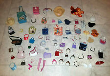 Mixed Lot of Over 60+ Barbie Doll Accessories Clothes Sunglasses Hats Purses