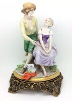 Vintage Italiano Porcelana Figura Triade Benacchio 27.9cm 28cm Capodimonte