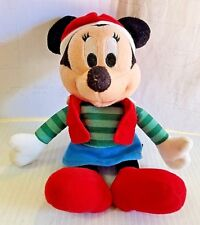 "Minnie Mouse Santa Plush Attire Holiday Hat Disney Dream International 9"" Long"