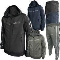 New Men Full zip Tracksuit Set Hoodie Zip Pockets Bottoms Joggers Pants S - 2XL