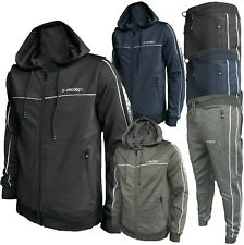 New Men Full zip Tracksuit Set Hoodie Zip Pockets Bottoms Joggers Pants S - 2XL