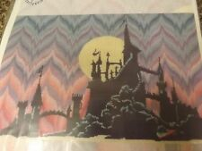 Vtg 1998 Mythical Magic Aurora Castle 26x18 Cross Stitch Pattern & DMC Floss