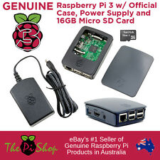 Raspberry Pi 3 w/ 16GB SD, Official Case & 5.1v 2.5a Power Supply   Starter Pack