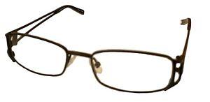 Jones New York Womens Metal Rectangle Eyewear Frame, J462. Black 50mm