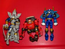 Power Rangers Wild Force Primal Morphin lot Red Silver Blue