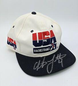 Christian Laettner SIGNED #4 USA Basketball Dream Team Hat