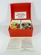 VINTAGE 1971 Betty Crocker Recipe Card Library Red Box w Recipes